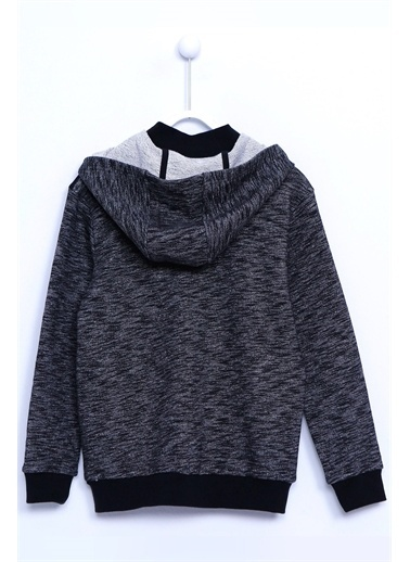 Silversun Kids Kapşonlu Önden Fermuar Kapamalı Uzun Kollu Cepli Sweat Shirt Jm 310681 Antrasit